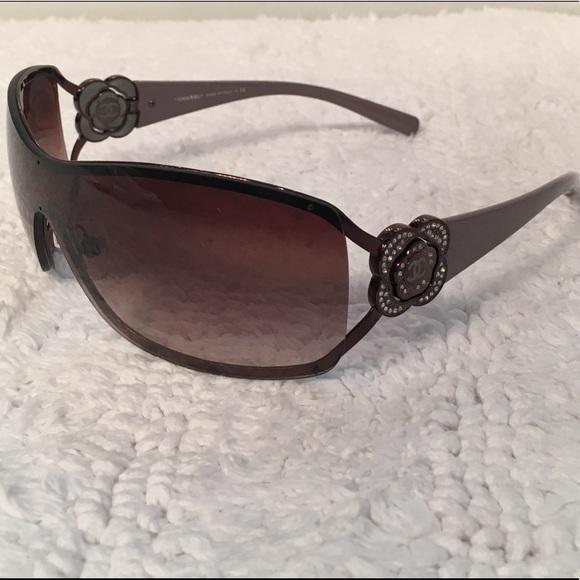 c176db4c1ddc CHANEL Accessories - Authentic Chanel shield sunglasses w  camellia.